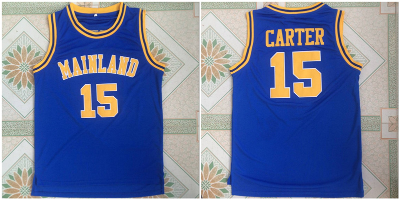Mainland High School 15 Vince Carter Blue Basketball Jersey