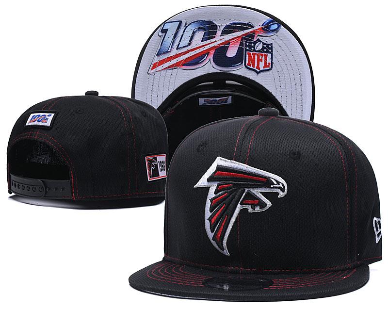 Falcons Team Logo Black 100th Seanson Adjustable Hat YD