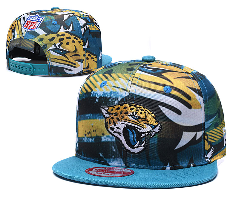 Jaguars Team Logo Blue Adjustable Hat TX