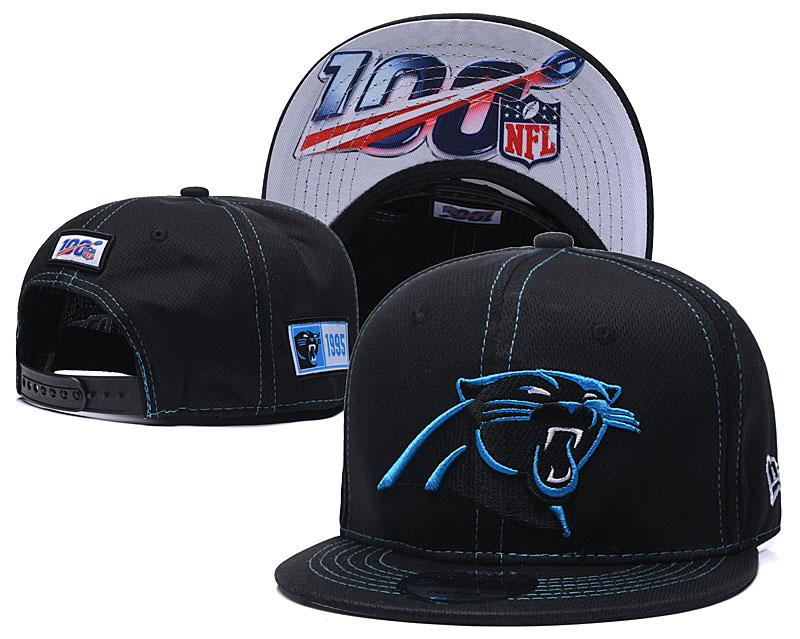 Panthers Team Logo Black 100th Seanson Adjustable Hat YD