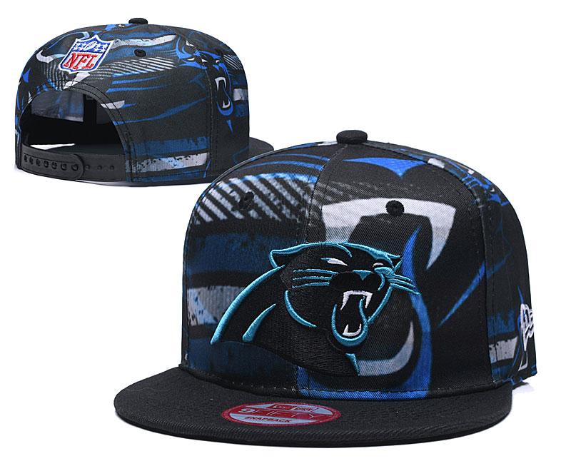 Panthers Team Logo Black Adjustable Hat TX
