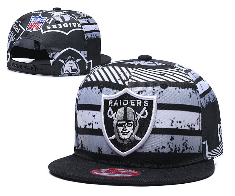 Raiders Team Logo Black Adjustable Hat TX