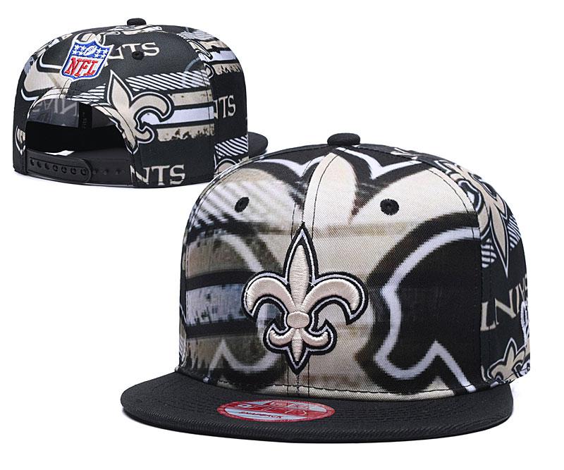 Saints Team Logo Black Adjustable Hat TX