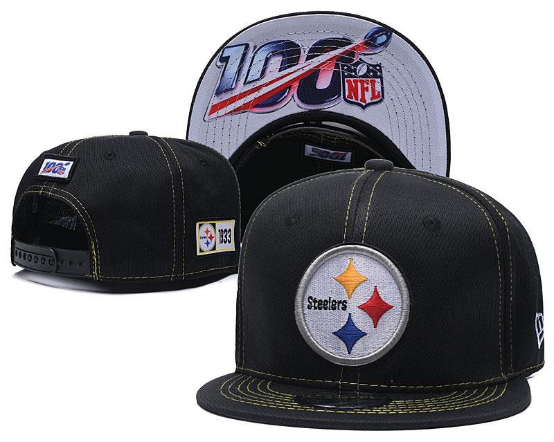 Steelers Team Logo Black 100th Seanson Adjustable Hat YD