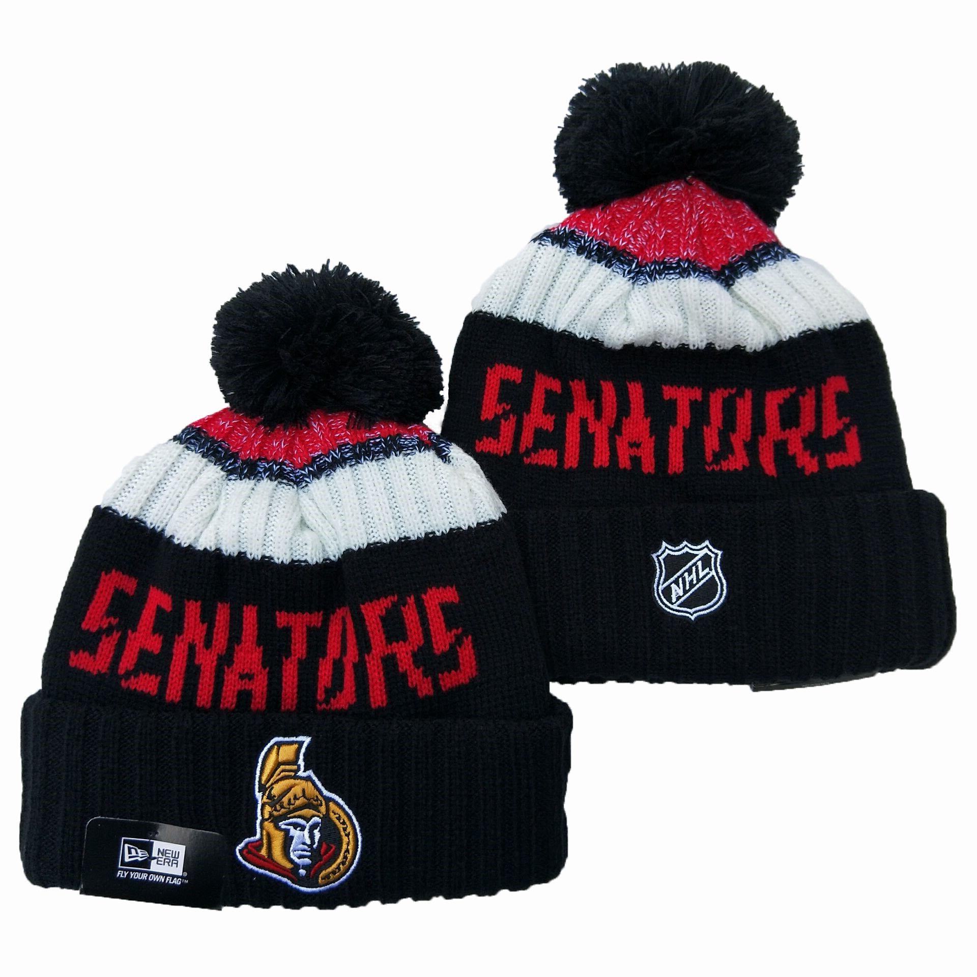 Seahawks Team Logo Black Pom Knit Hat YD