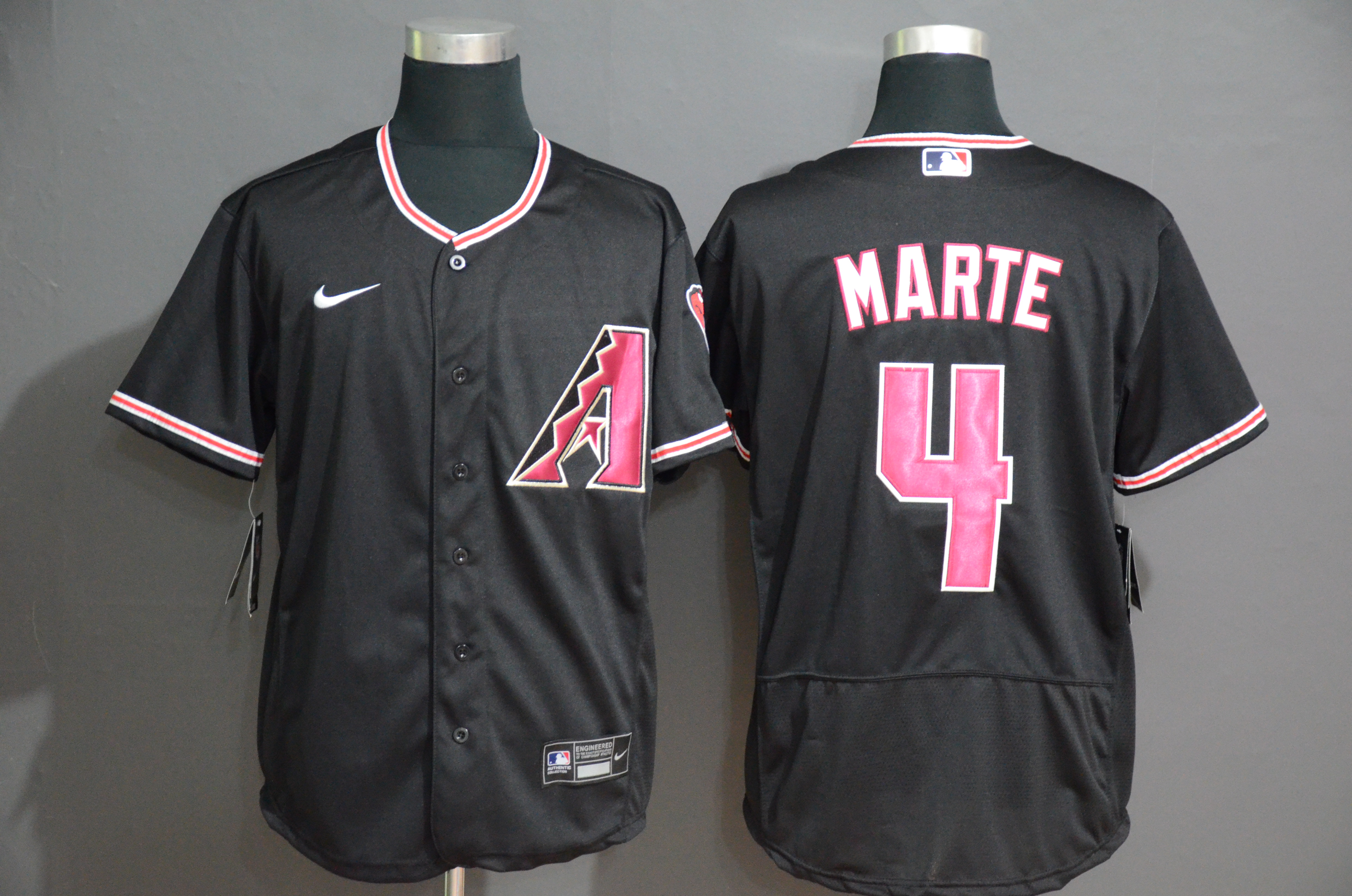 Diamondbacks 4 Ketel Marte Black Nike Flexbase Jersey