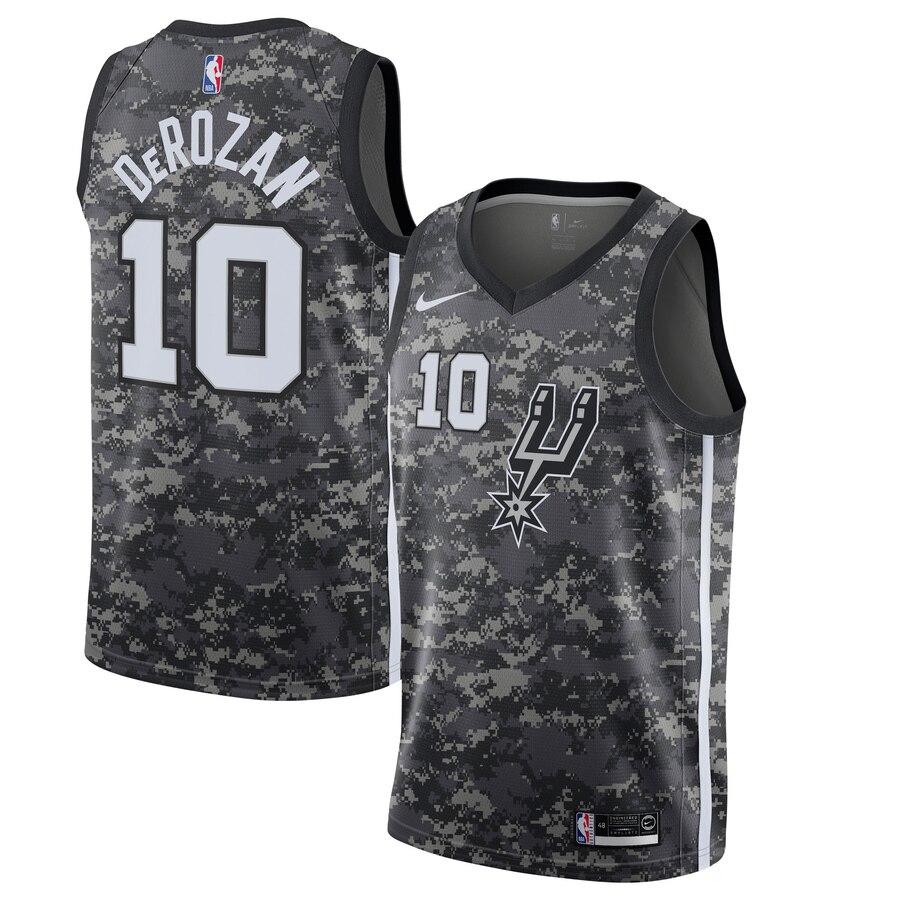 Spurs 10 DeMar DeRozan Camo 2019-20 City Edition Nike Swingman Jersey