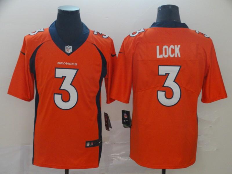 Nike Broncos 3 Drew Lock Orange Vapor Untouchable Limited Jersey