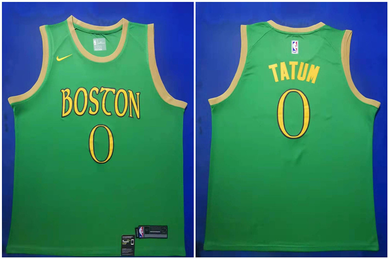 Celtics 0 Jayson Tatum Green 2019-20 City Edition Swingman Jersey
