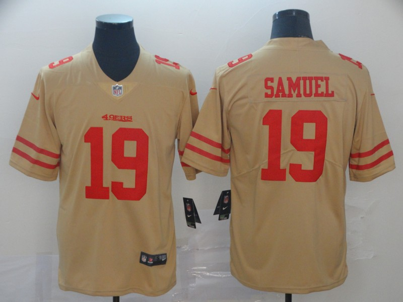 Nike 49ers 19 Deebo Samuel Cream Inverted Legend Limited Jersey