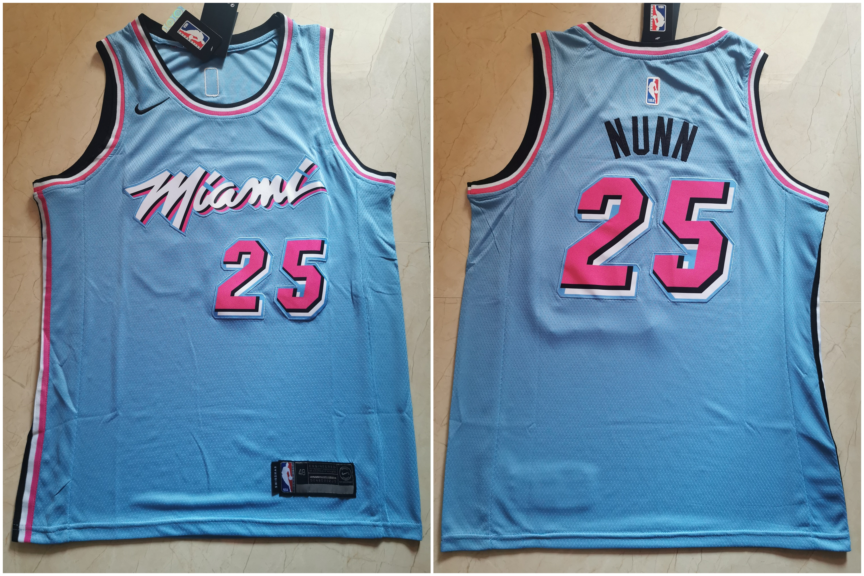 Heat 25 Kendrick Nunn Blue City Edition Nike Swingman Jersey