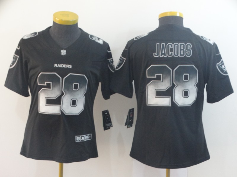 Nike Raiders 28 Josh Jacobs Black Arch Smoke Women Vapor Untouchable Limited Jersey