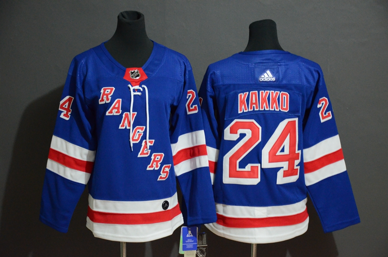 Rangers 24 Kaapo Kakko Blue Adidas Jersey