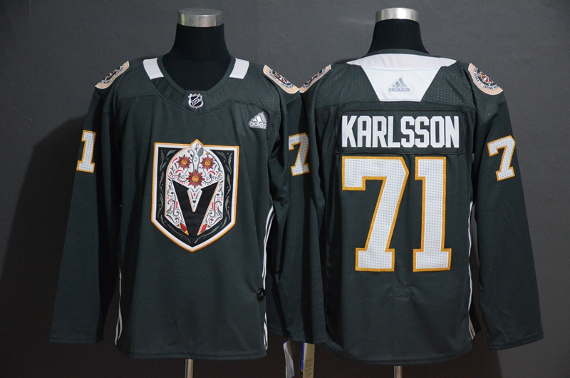 Vegas Golden Knights 71 William Karlsson Gray Dia De Los Muertos Adidas Jersey