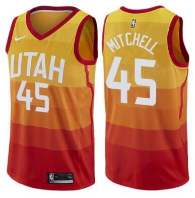 Jazz 45 Donovan Mitchell Multi Color City Edition Nike Swingman Jersey