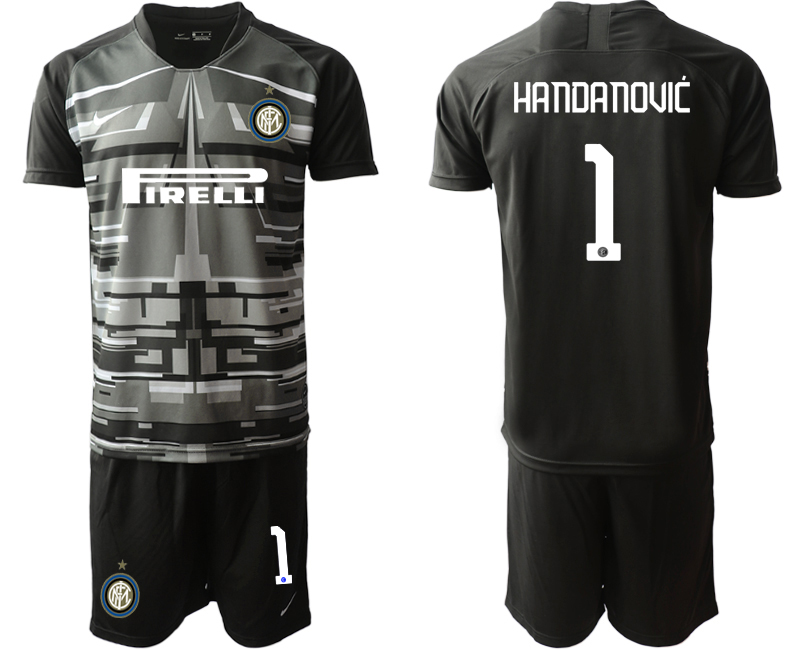 2019-20 Inter Milan 1 HANDANOVIC Black Goalkeeper Soccer Jersey