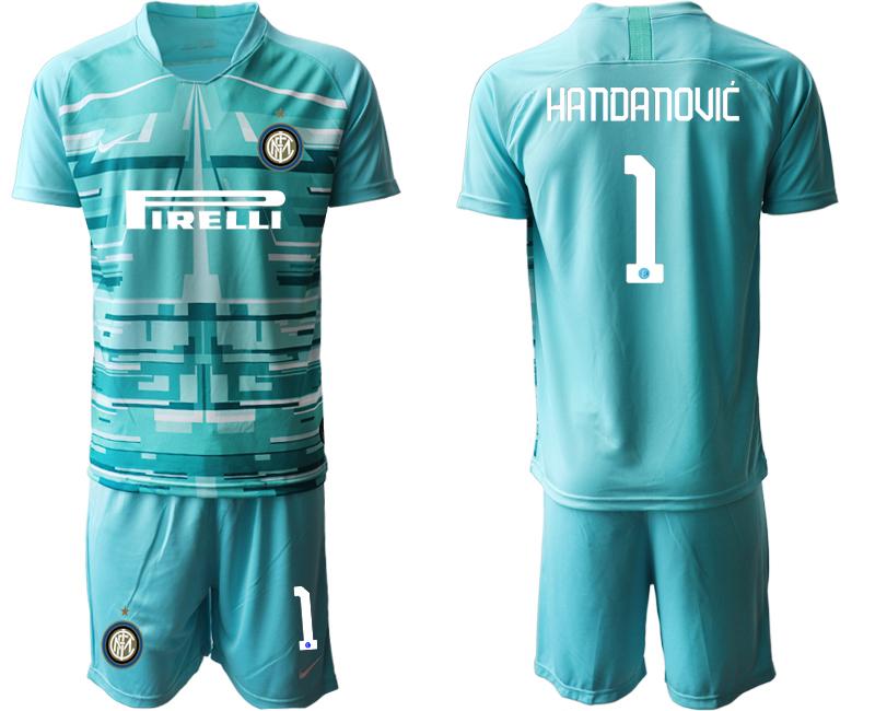2019-20 Inter Milan 1 HANDANOVIC Blue Goalkeeper Soccer Jersey