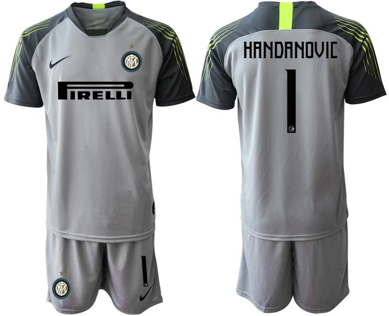 2019-20 Inter Milan 1 HANDANOVIC Gray Goalkeeper Soccer Jersey