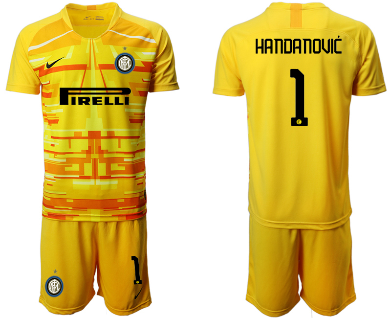 2019-20 Inter Milan 1 HANDANOVIC Yellow Goalkeeper Soccer Jersey