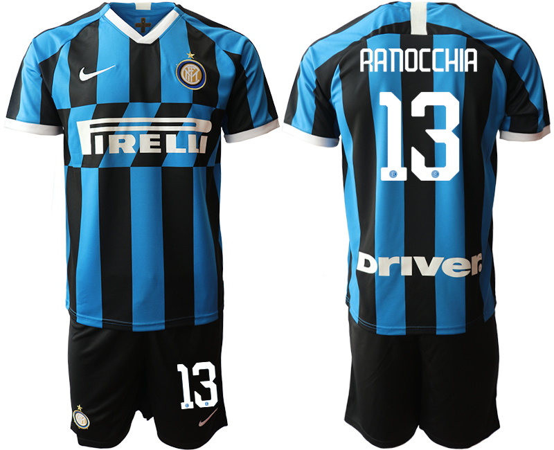 2019-20 Inter Milan 13 RANOCCHIA Home Soccer Jersey