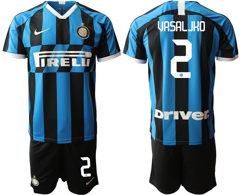 2019-20 Inter Milan 2 VRSALJKO Home Soccer Jersey