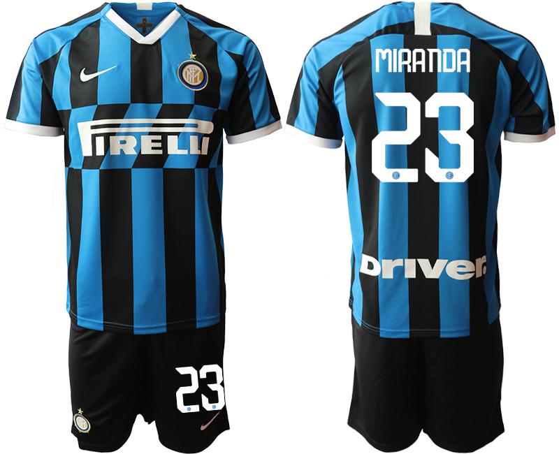 2019-20 Inter Milan 23 MIRANDA Home Soccer Jersey