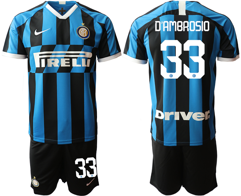 2019-20 Inter Milan 33 D'AMBROSIO Home Soccer Jersey