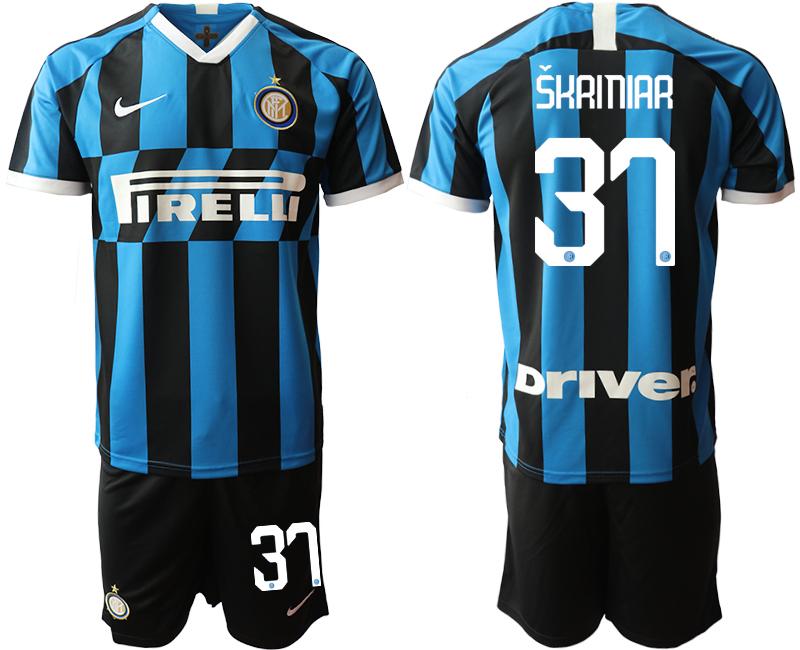 2019-20 Inter Milan 37 SKRINIAR Home Soccer Jersey