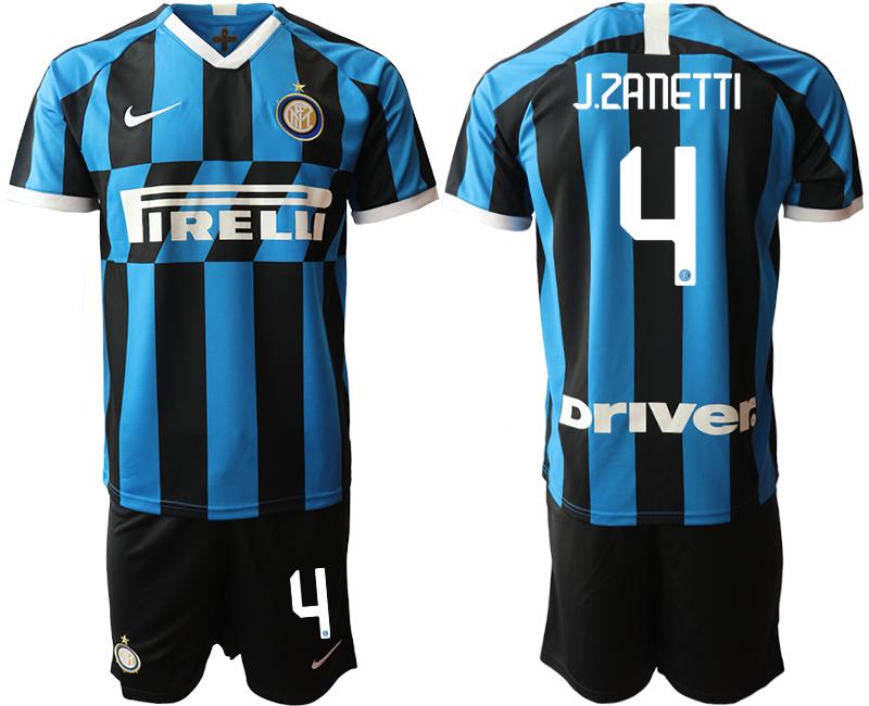 2019-20 Inter Milan 4 J.ZANETTI Home Soccer Jersey