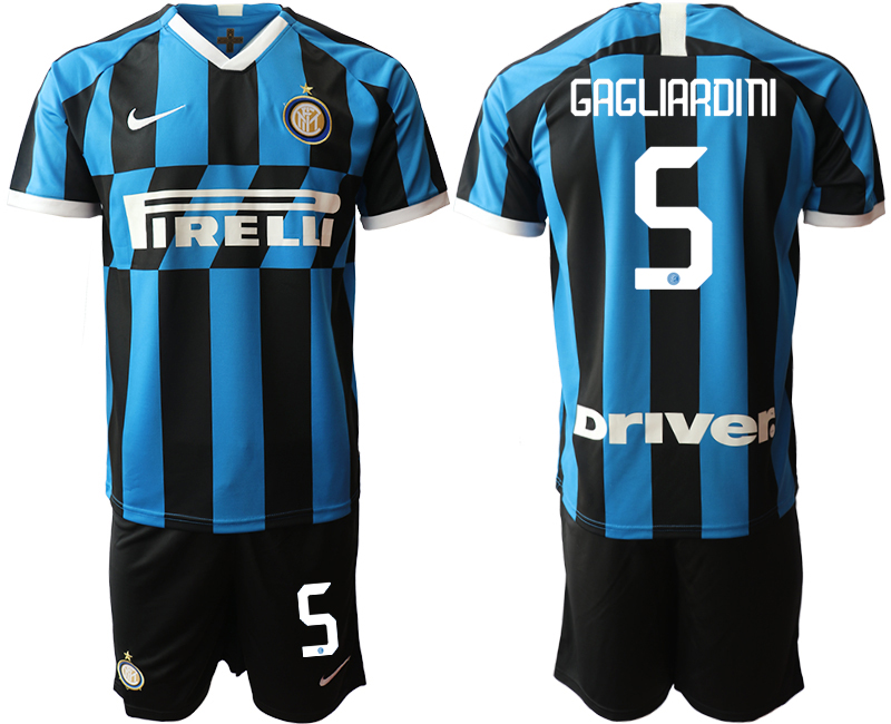 2019-20 Inter Milan 5 GAGLIARDINI Home Soccer Jersey