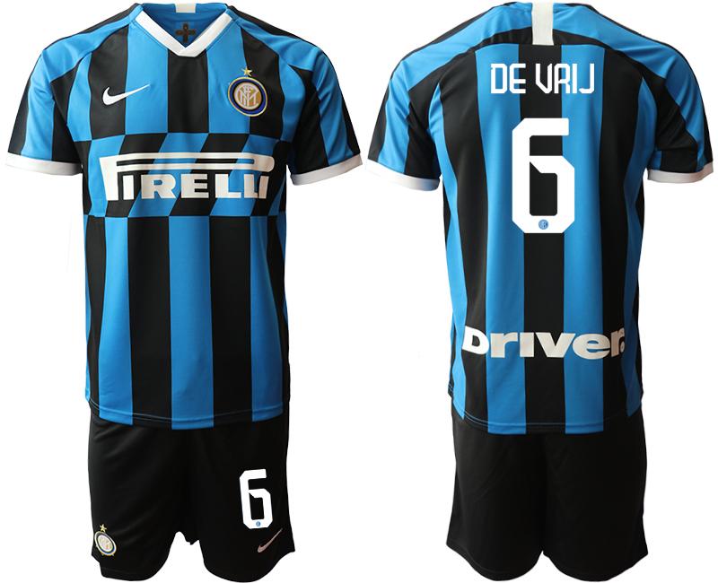 2019-20 Inter Milan 6 DE VRIJ Home Soccer Jersey