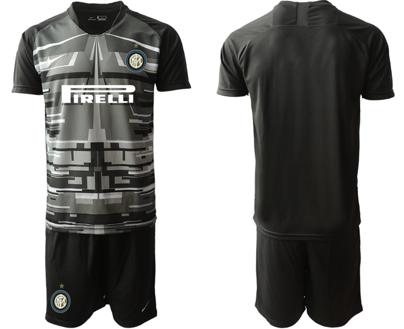 2019-20 Inter Milan Black Goalkeeper Soccer Jersey