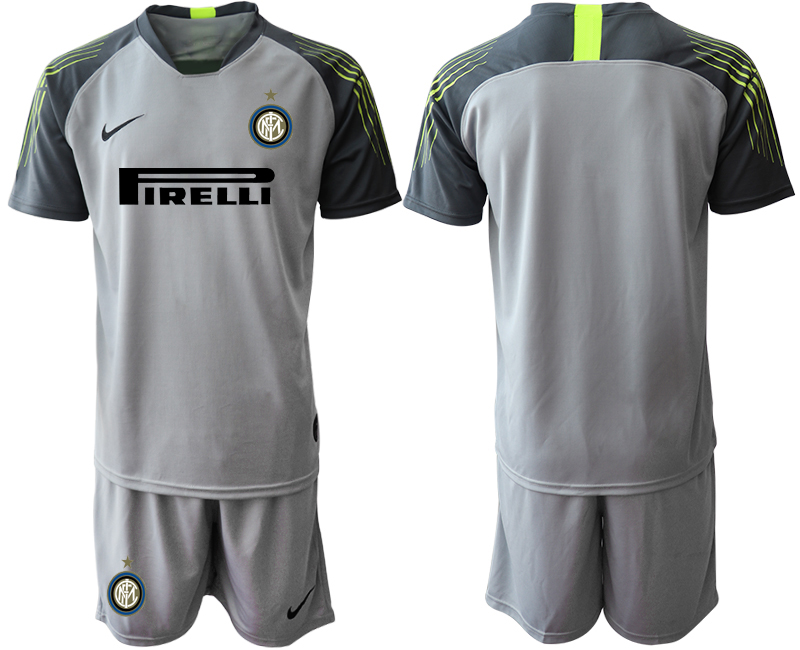 2019-20 Inter Milan Gray Goalkeeper Soccer Jersey