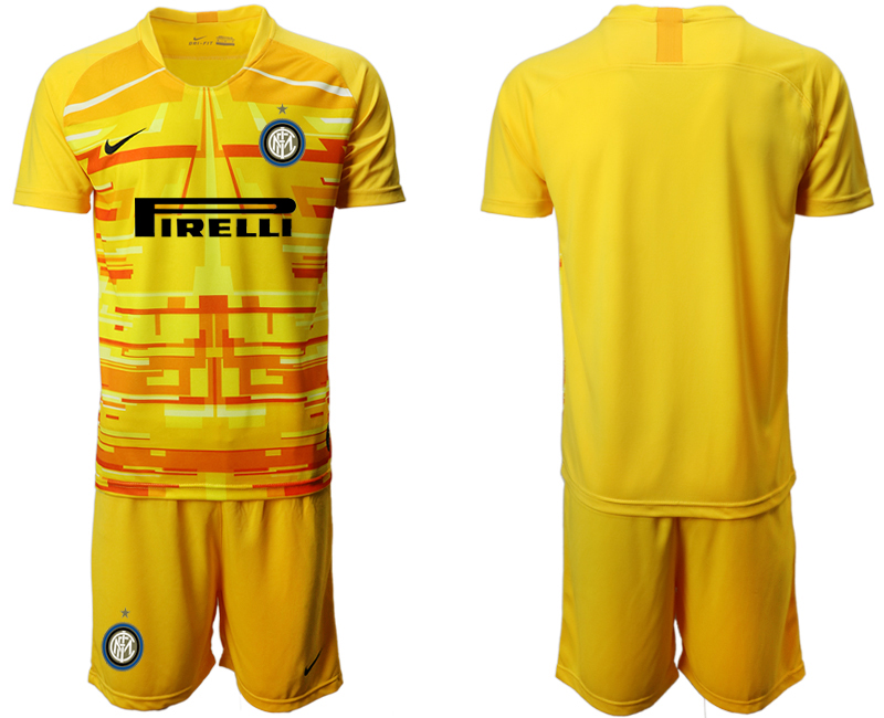 2019-20 Inter Milan Yellow Goalkeeper Soccer Jersey