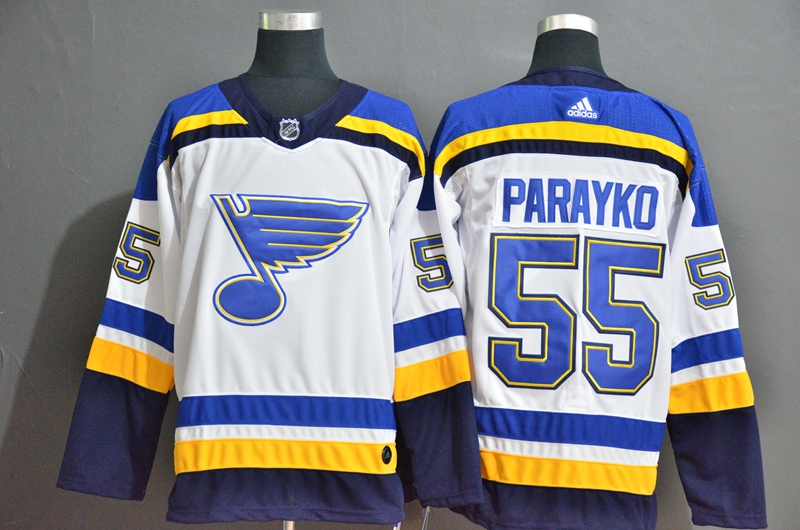 Blues 55 Colton Parayko White Adidas Jersey