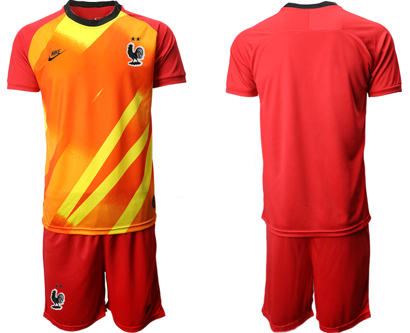 France Red Goalkeeper UEFA Euro 2020 Soccer Jersey