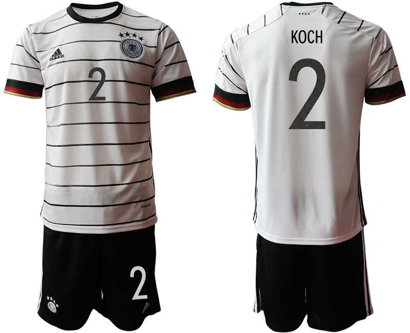 Germany 2 KOCH Home UEFA Euro 2020 Soccer Jersey
