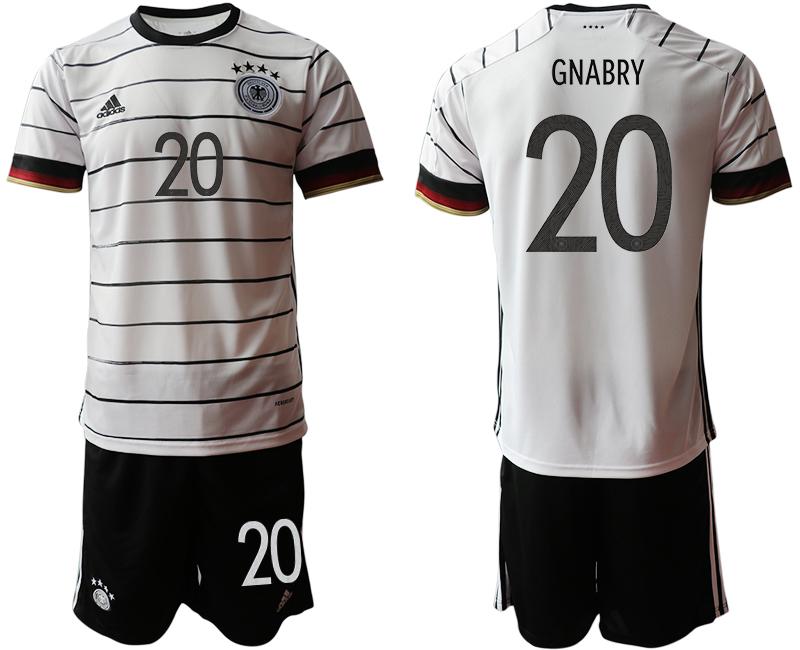 Germany 20 GNABRY Home UEFA Euro 2020 Soccer Jersey