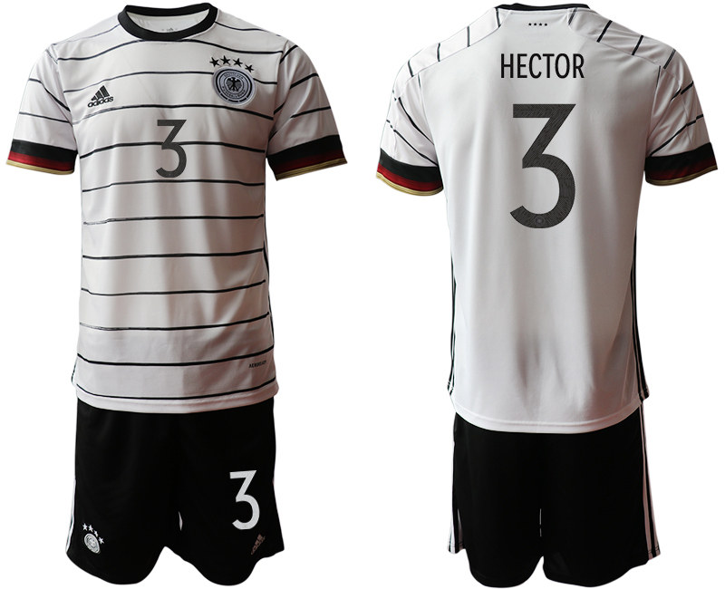 Germany 3 HECTOR Home UEFA Euro 2020 Soccer Jersey