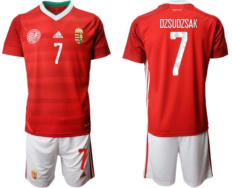 Hungary 7 DZSUDZSAK Home UEFA Euro 2020 Soccer Jersey