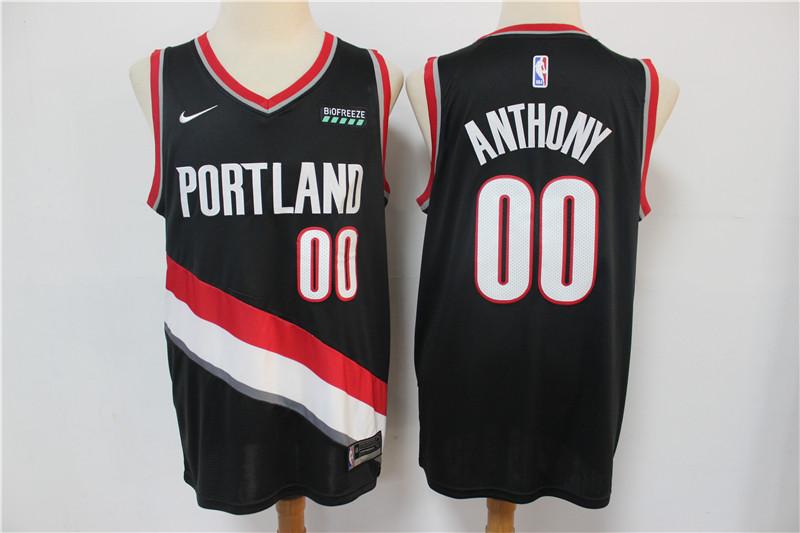 Blazers 00 Carmelo Anthony Black Nike Swingman Jersey