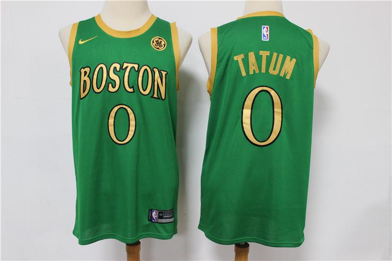 Celtics 0 Jayson Tatum Green 2019-20 City Edition Swingman Jersey
