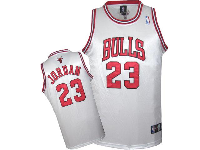 Bulls 23 Michael Jordan White Hardwood Classics Jersey