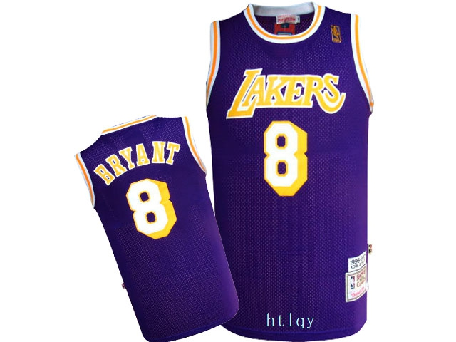 Lakers 8 Kobe Bryant Purple 1996 97 Hardwood Classics Jersey