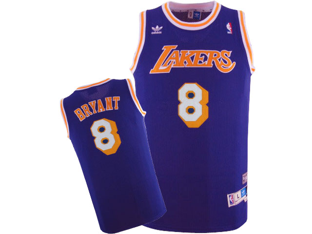 Lakers 8 Kobe Bryant Purple Hardwood Classics Jersey
