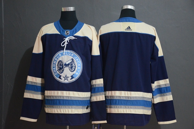 Blue Jackets Blank Navy Adidas Jersey