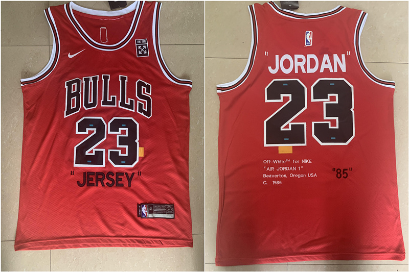 "Bulls 23 Michael Jordan Red ""85"" Anniversary Nike Swingman Jersey"