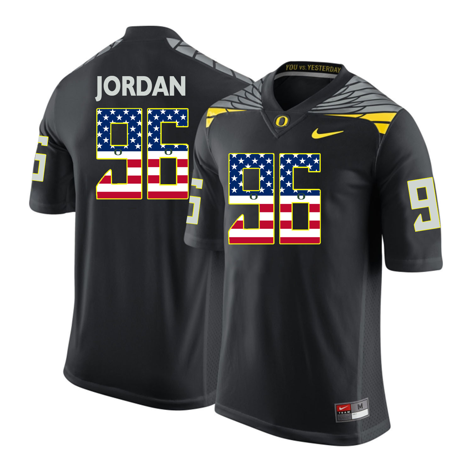 Oregon Ducks 96 Dion Jordan Black USA Flag College Football Jersey