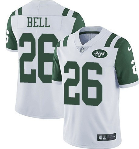 Nike Jets 26 Le'Veon Bell White Vapor Untouchable Limited Jersey