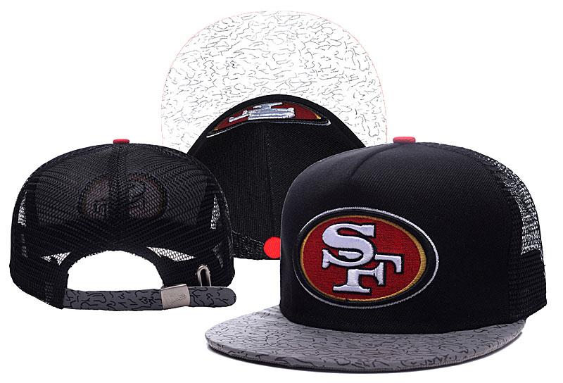 49ers Team Logo Black Adjustable Hat TX